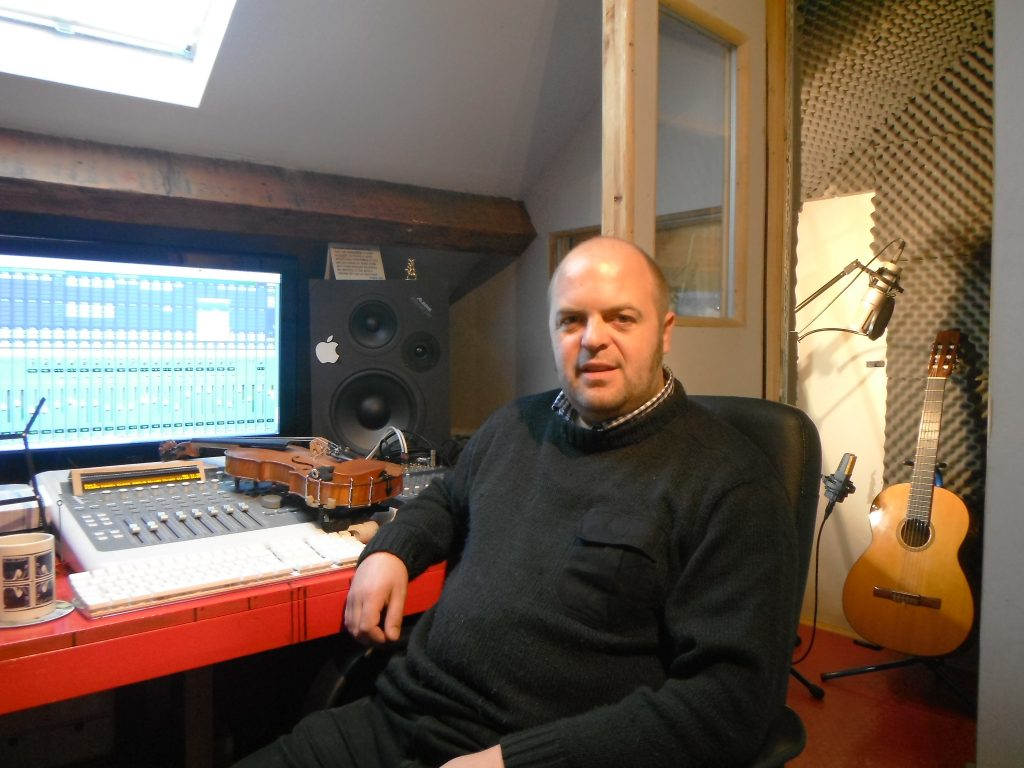 Billy in his Recording Studio